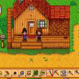 Screenshot of 2 girl characters playing Stardew Valley
