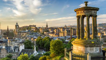 View of Edinburgh, Scotland